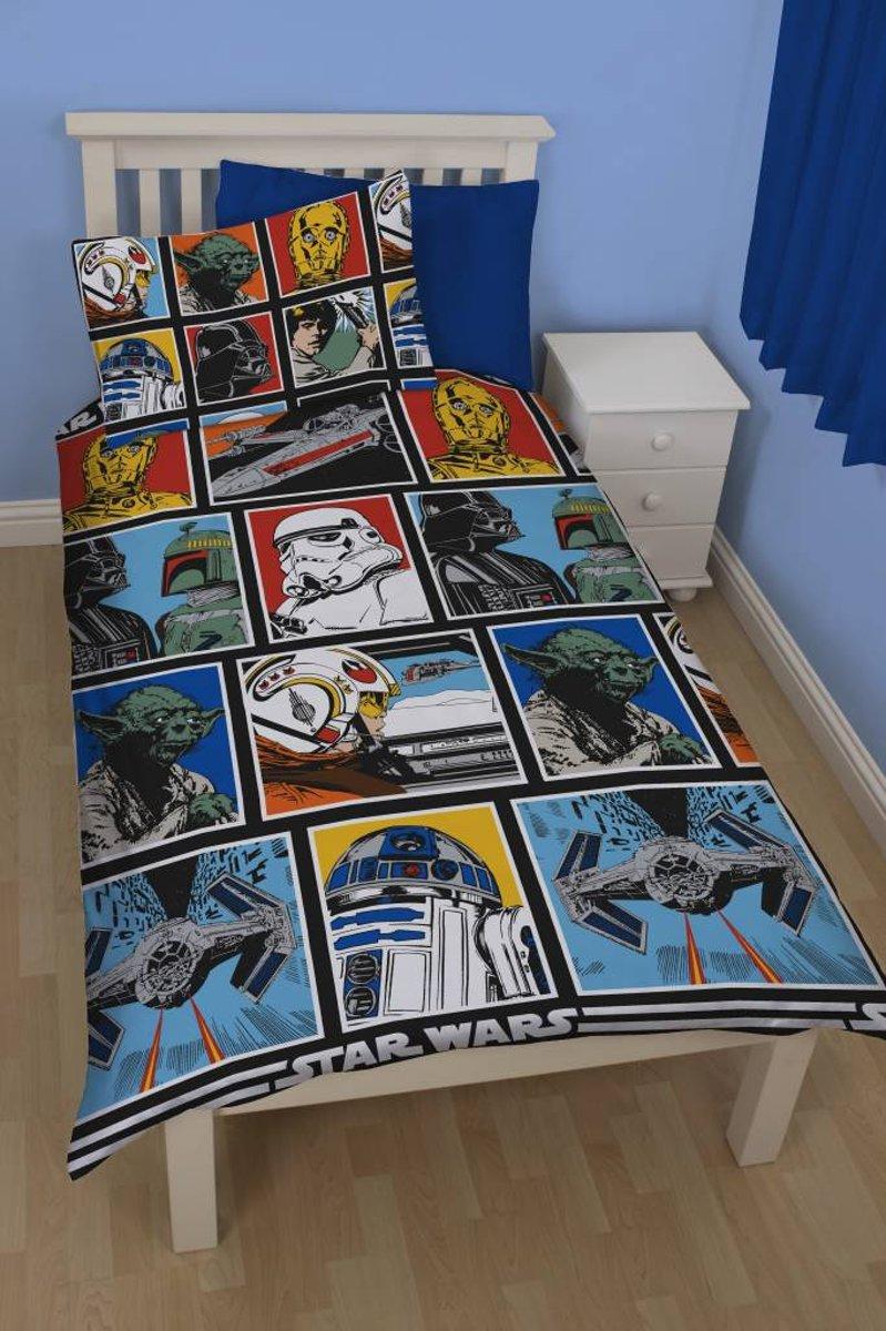 Disney Star Wars Stripbook - Dekbedovertrek - Eenpersoons - 135x200 cm - Multi kopen