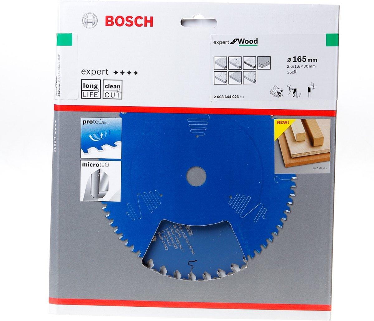 Bosch Cirkelzaagblad 36 tanden Wood ABT 165 x 30 x 2.6mm
