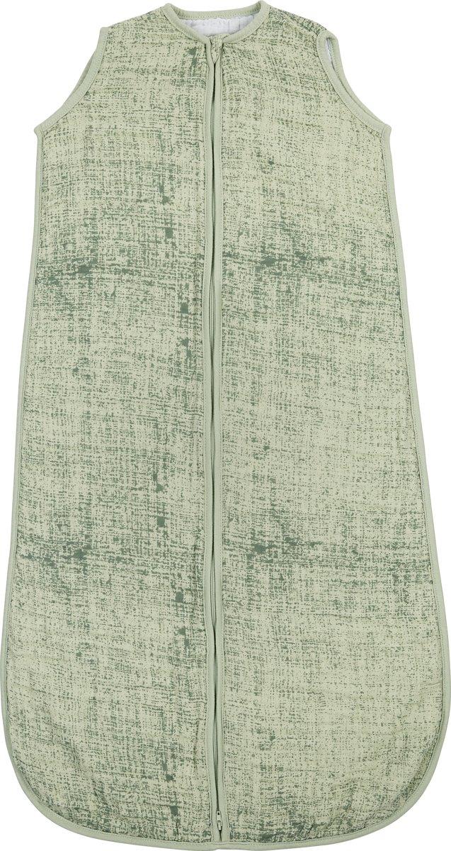 Meyco hydrofiel slaapzak Fine lines - 90cm - forest green/mint