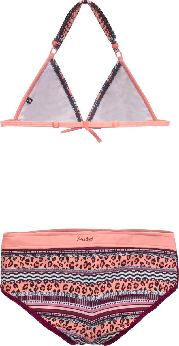 1ef00e9dd67751 bol.com | Protest CID JR Triangle Bikini Meisjes - Coral Blaze - Maat 140