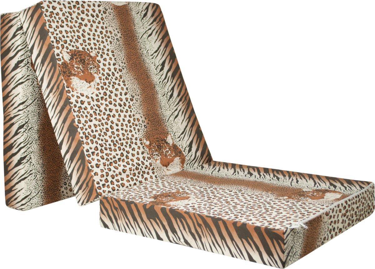 Design logeermatras - Tijger - camping matras - reismatras - opvouwbaar matras - 195 x 65 x 10