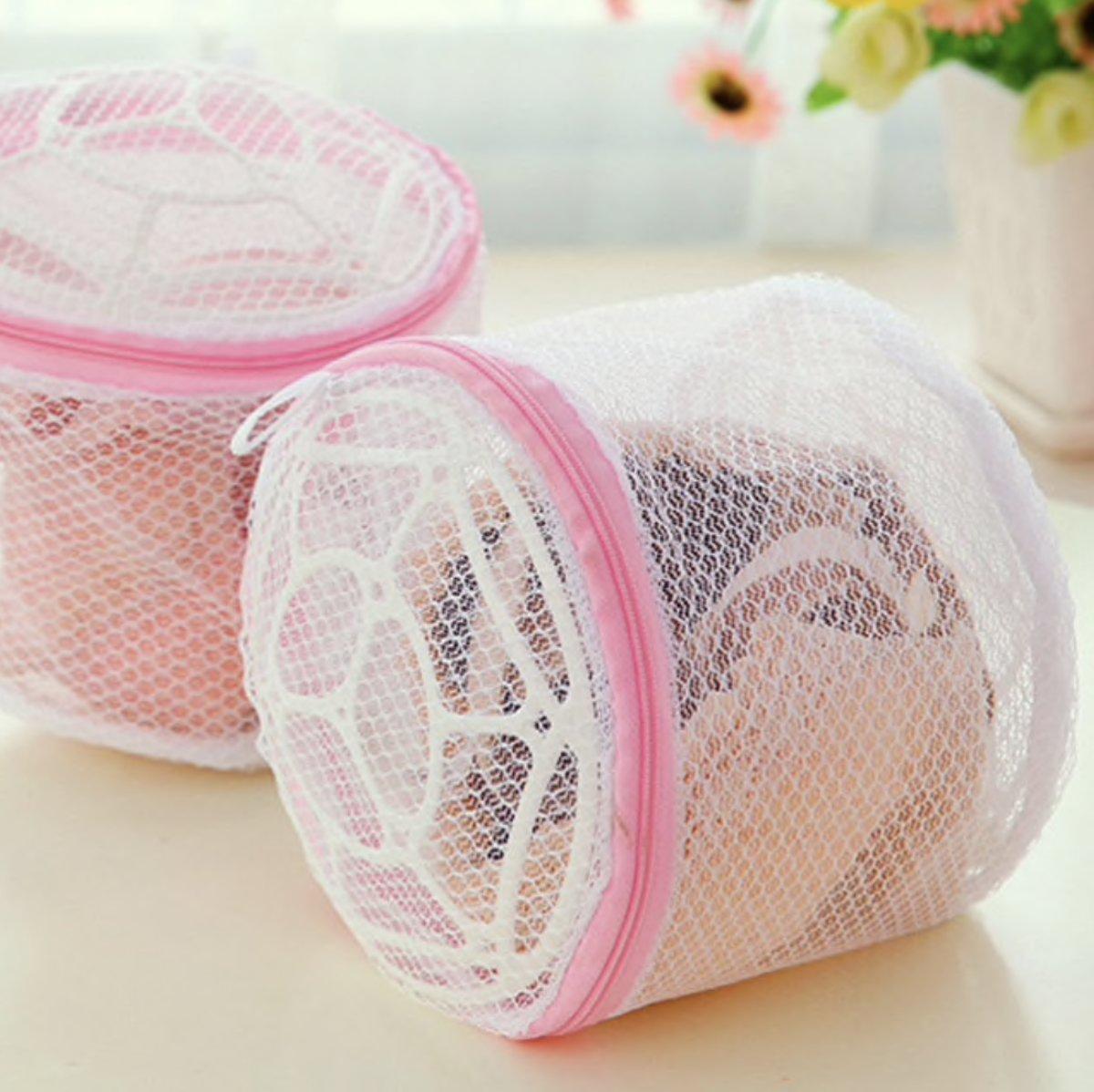 Wasnet met rits voor lingerie| wasmachine waszak kopen