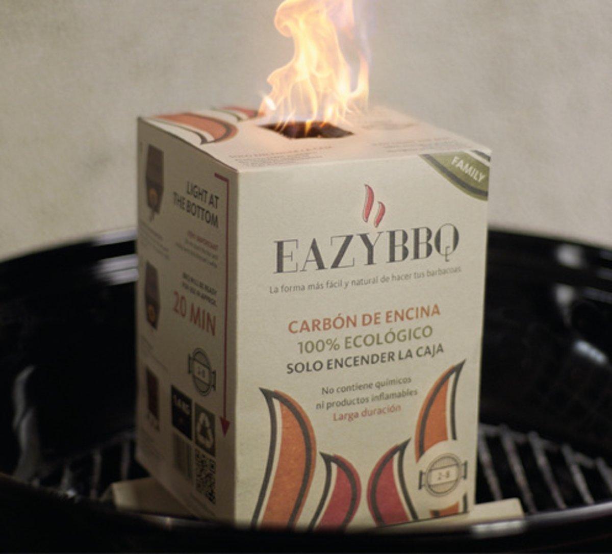 EazyBBQ - 4x Family pakket - Barbecue Houtskool - Eiken houtskool kopen