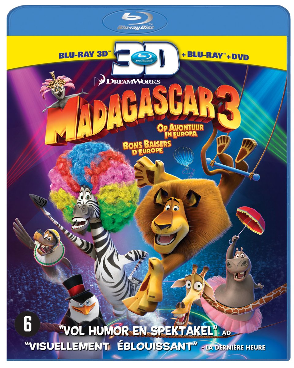 Madagascar 3: Europe's Most Wanted (3D Blu-ray) kopen