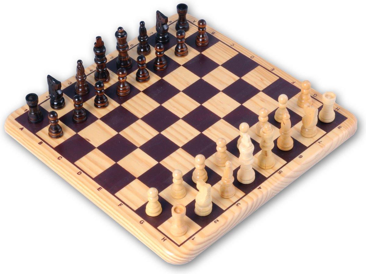 Longfield Games Schaakspel - Essenhout