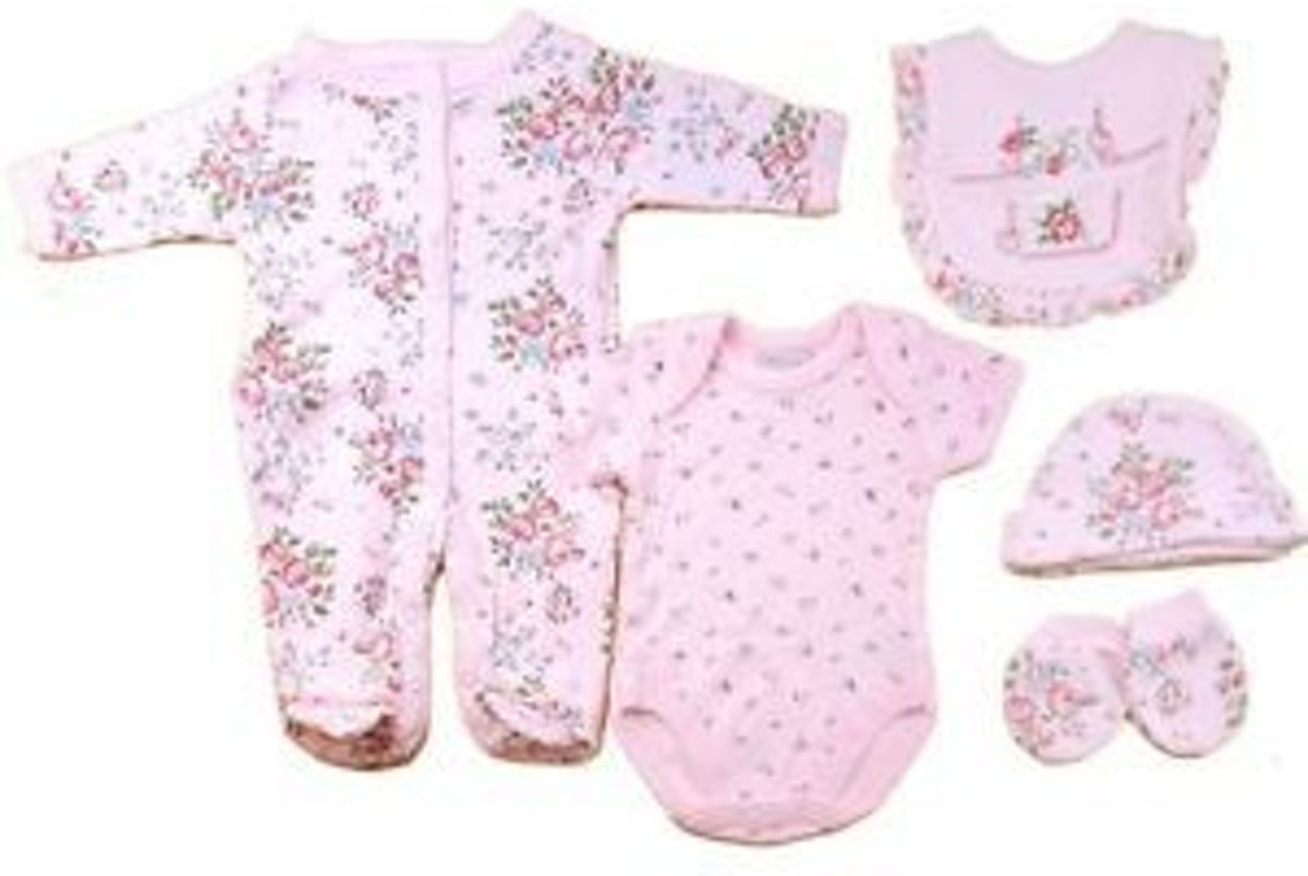 d4a3fed3c bol.com | 5-delige Baby Outfit 'Vintage Roses' PINK (NB: 50/56)