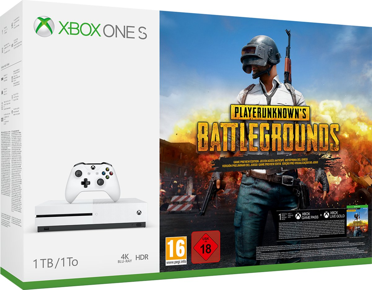 Xbox One S PlayerUnknown's Battlegrounds Console - 1 TB Xbox One