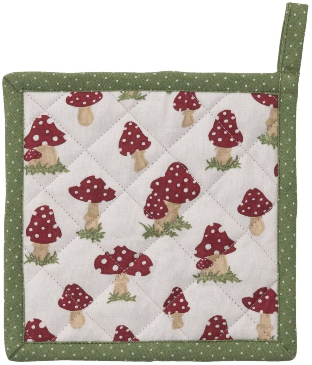 Clayre & Eef - Pannenlap kids - 16 x 16 cm - katoen - rood kopen