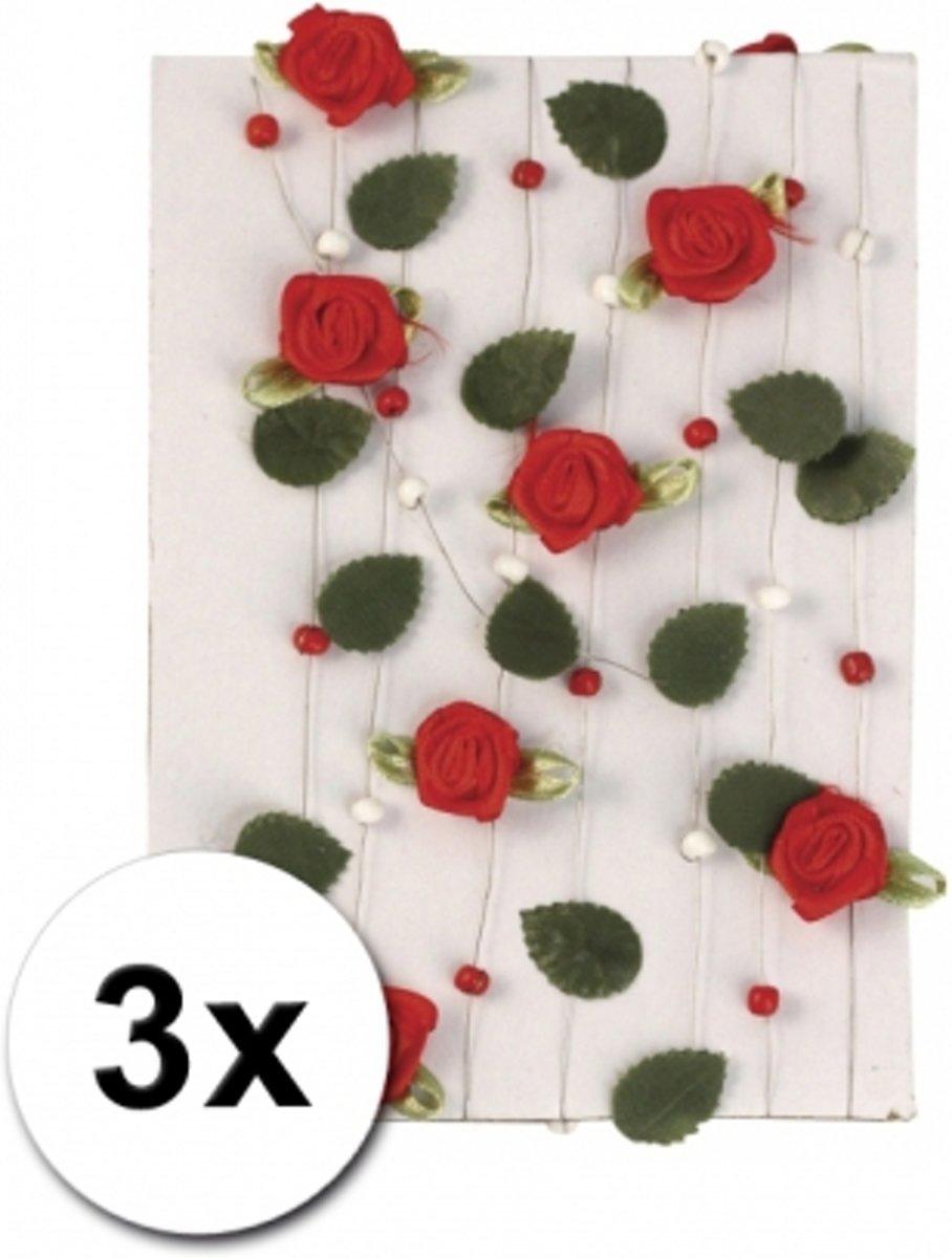 3 rode rozen slingers 2 meter kopen