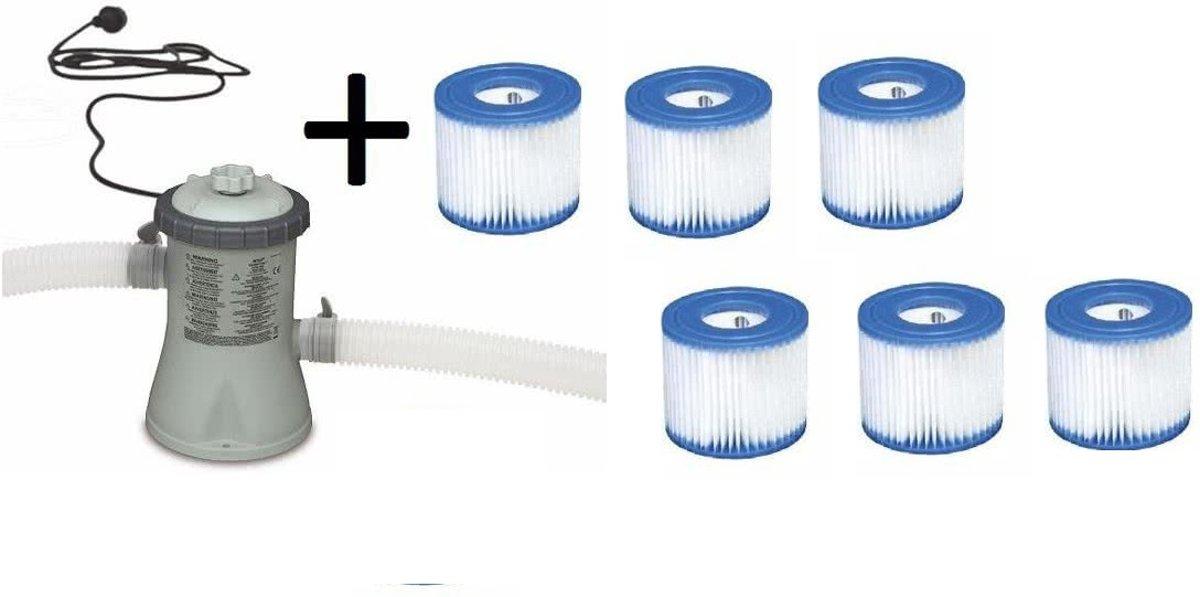 Intex Filterpomp 12v voor bad 244 / 305 cm - 1250 L/uur - 28602GS + 6 gratis filter H