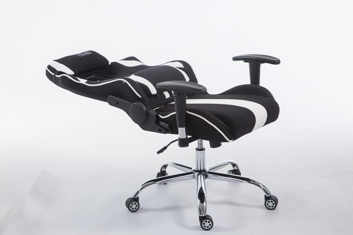 Bol clp limit xl racing bureaustoel stof zwart wit