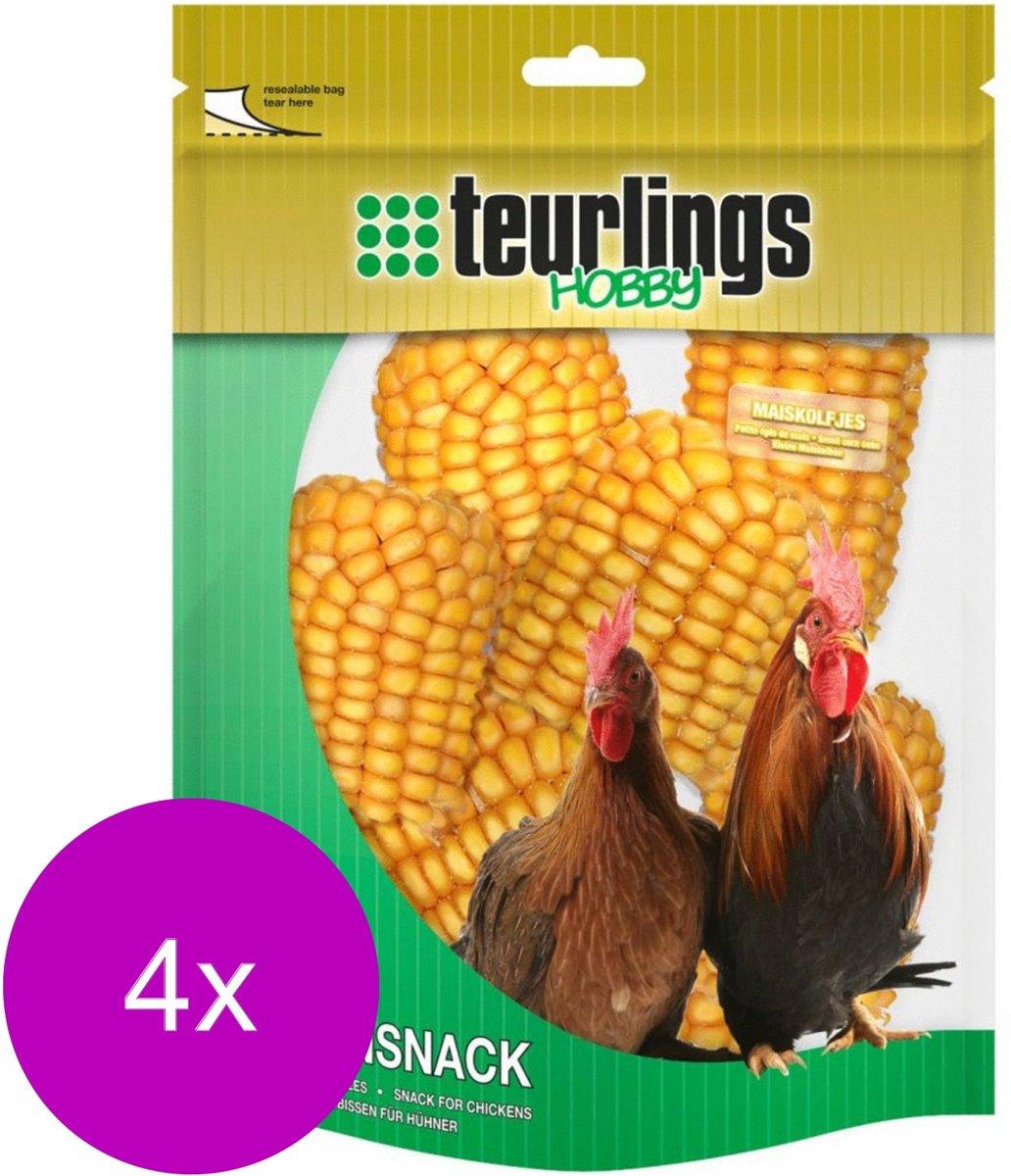 Teurlings Maiskolfjes - Kippenvoer - 4 x 320 g