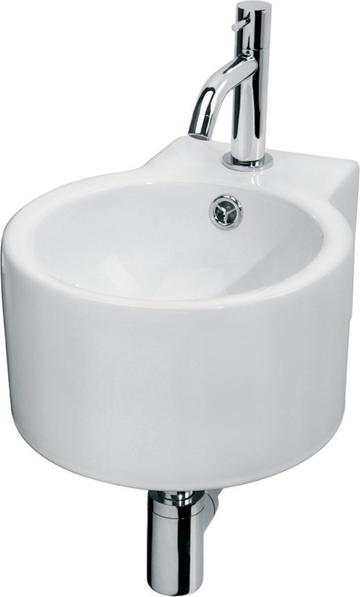 Differnz Hestia Fontein Toilet - Set - Fontein 35,5 x 28 x 17 cm inclusief kraan en sifon - Keramiek - Wit kopen