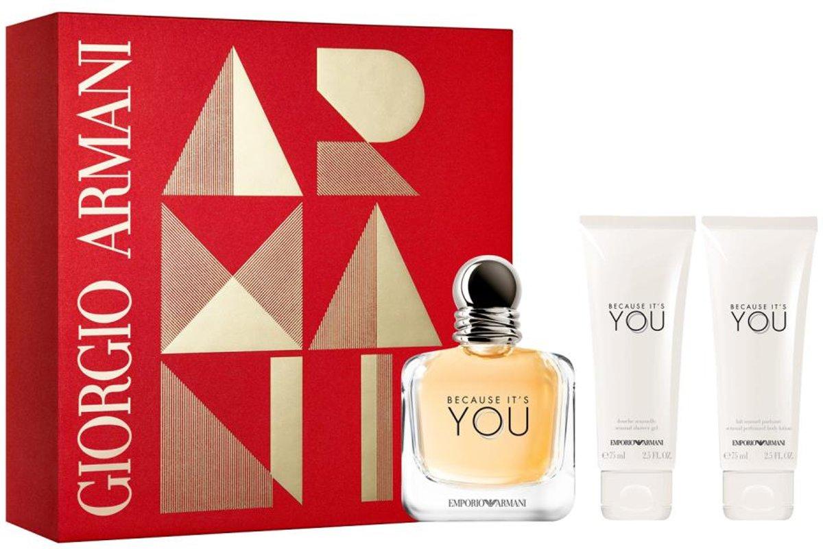 | Because It's You SET Eau de parfum spray 100ml +
