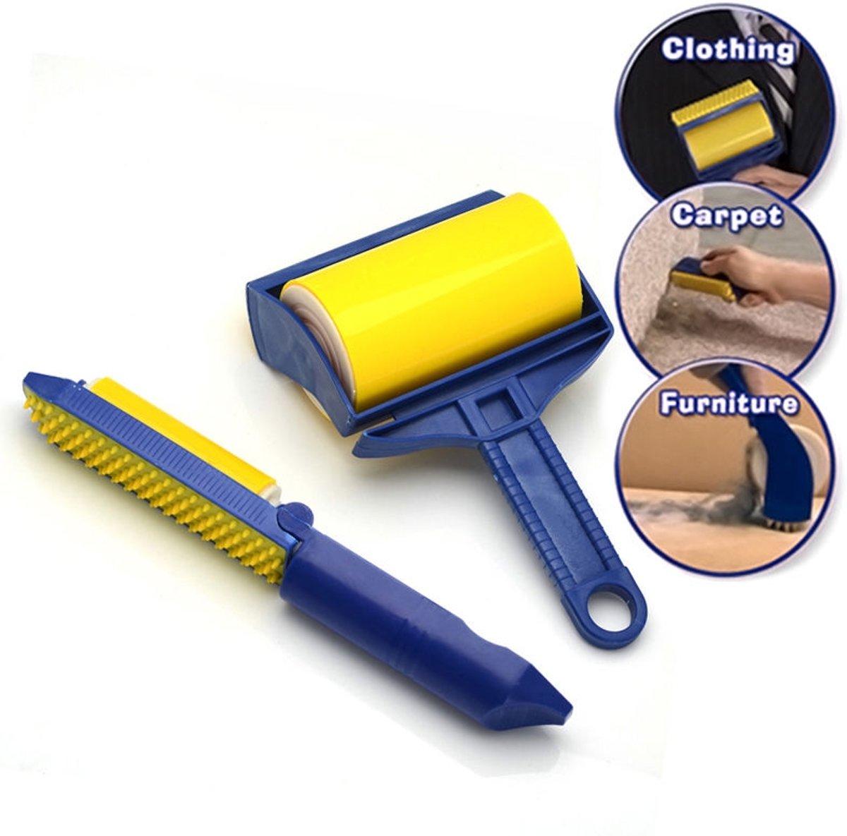 Kledingroller Plakroller - Stofroller Pluizenroller Set - Kledingborstel Pluizenroller - Pluizenborstel - Pluizenverwijderaar kopen