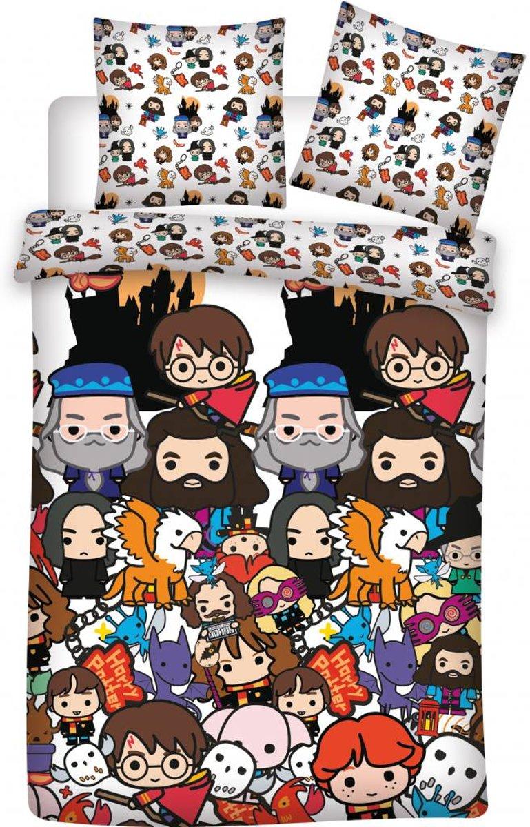 Harry Potter Emoji's - Dekbedovertrek - Eenpersoons - 140 x 200 cm - Multi kopen