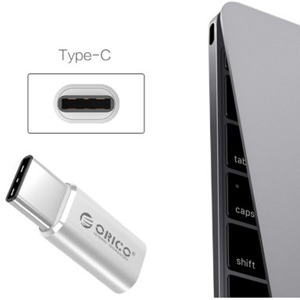 Orico Type C Adapter Usb 31 Naar Micro 20 To Converter Ctm1 Silver Aluminium