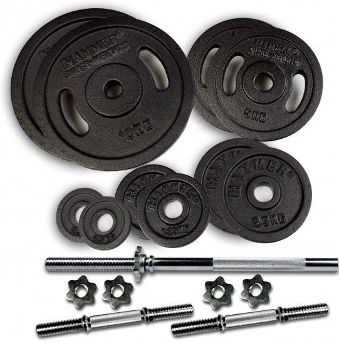 Hammer Gewichtenset met Stangen 53 KG kopen