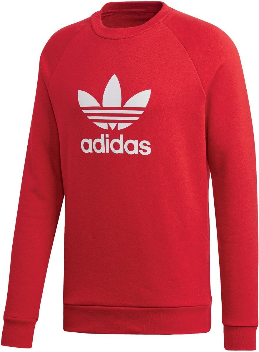 b3df8cdb281 bol.com | adidas Trefoil Crew Sporttrui - Maat XL - Mannen - rood/wit