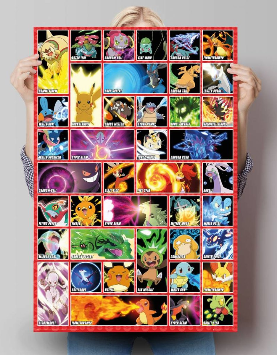Pokemon - moves  - Poster 61 x 91.5 cm kopen