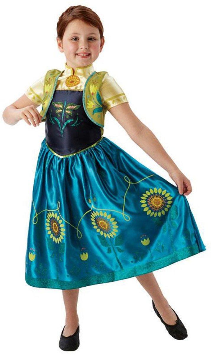 Anna Frozen™ Fever™ kostuum voor meisjes  - Verkleedkleding - 98/104 - Carnavalskleding