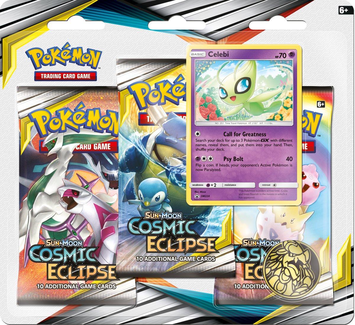 Pokémon Sun & Moon Cosmic Eclipse 3BoosterBlister Celibi - Pokémon Kaarten kopen