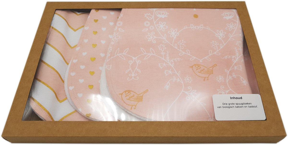 MijnNami Kraft Geschenkdoos – Eco-vriendelijk – Touch of Gold - Kraamcadeau Meisje - Kraamkado meisje