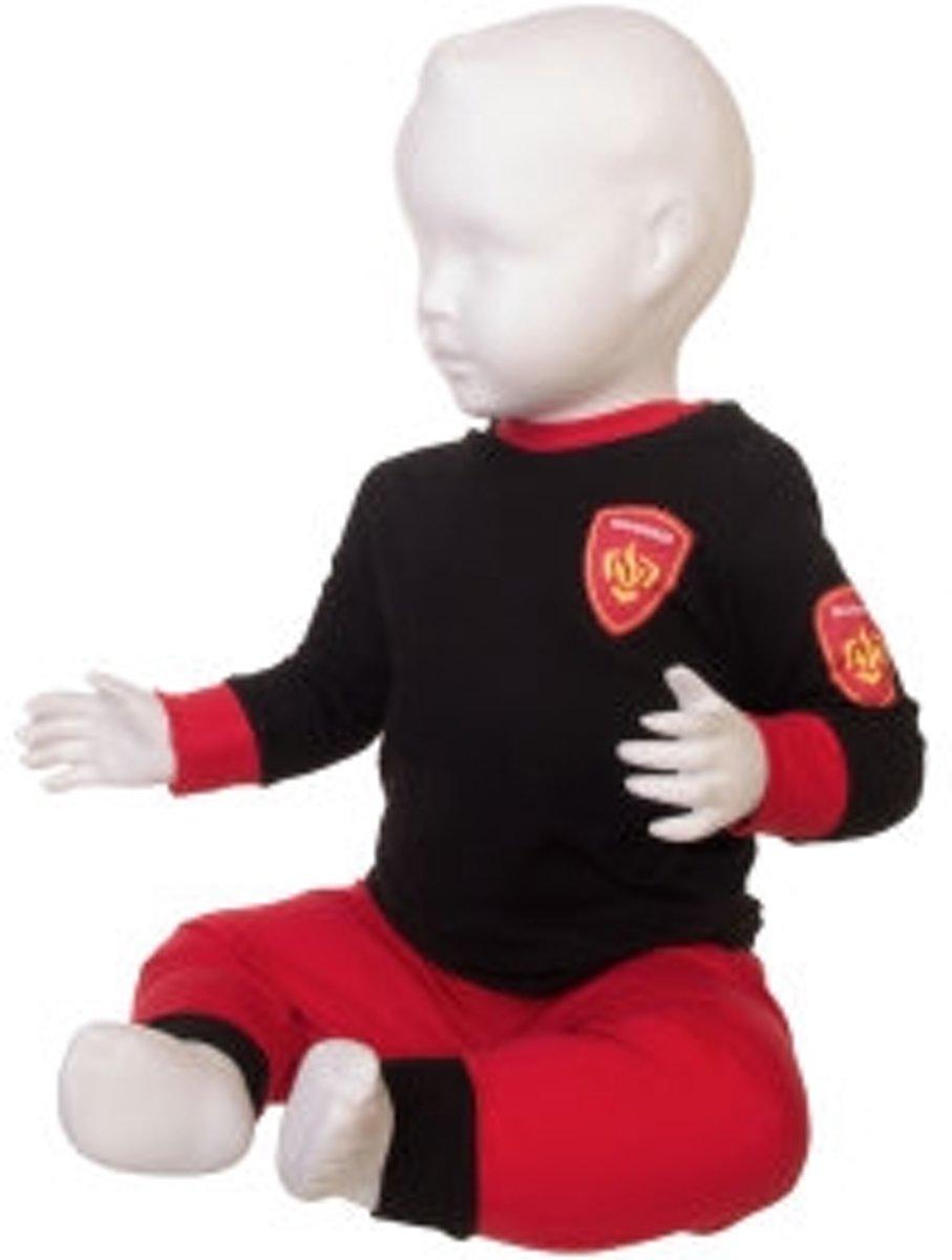 Fun2Wear Brandweer Pyjama Rood maat 80 kopen