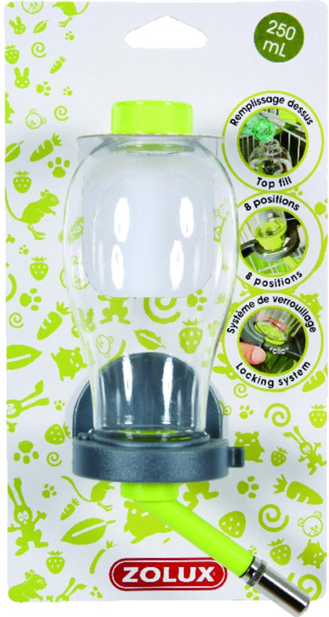 Zolux Drinkfles Top Groen Small