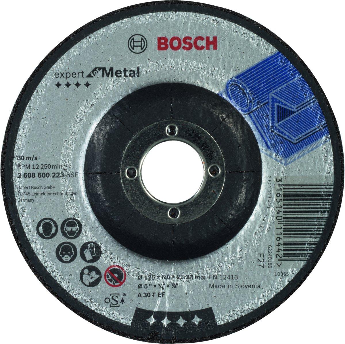 Bosch - Afbraamschijf gebogen Expert for Metal A 30 T BF, 125 mm, 22,23 mm, 6,0 mm kopen