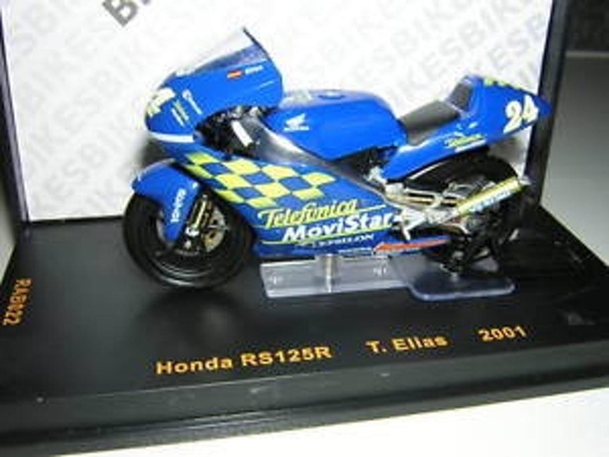 Honda RS125R T. Elias 2001 1:24 IXO Models Blauw RAB022