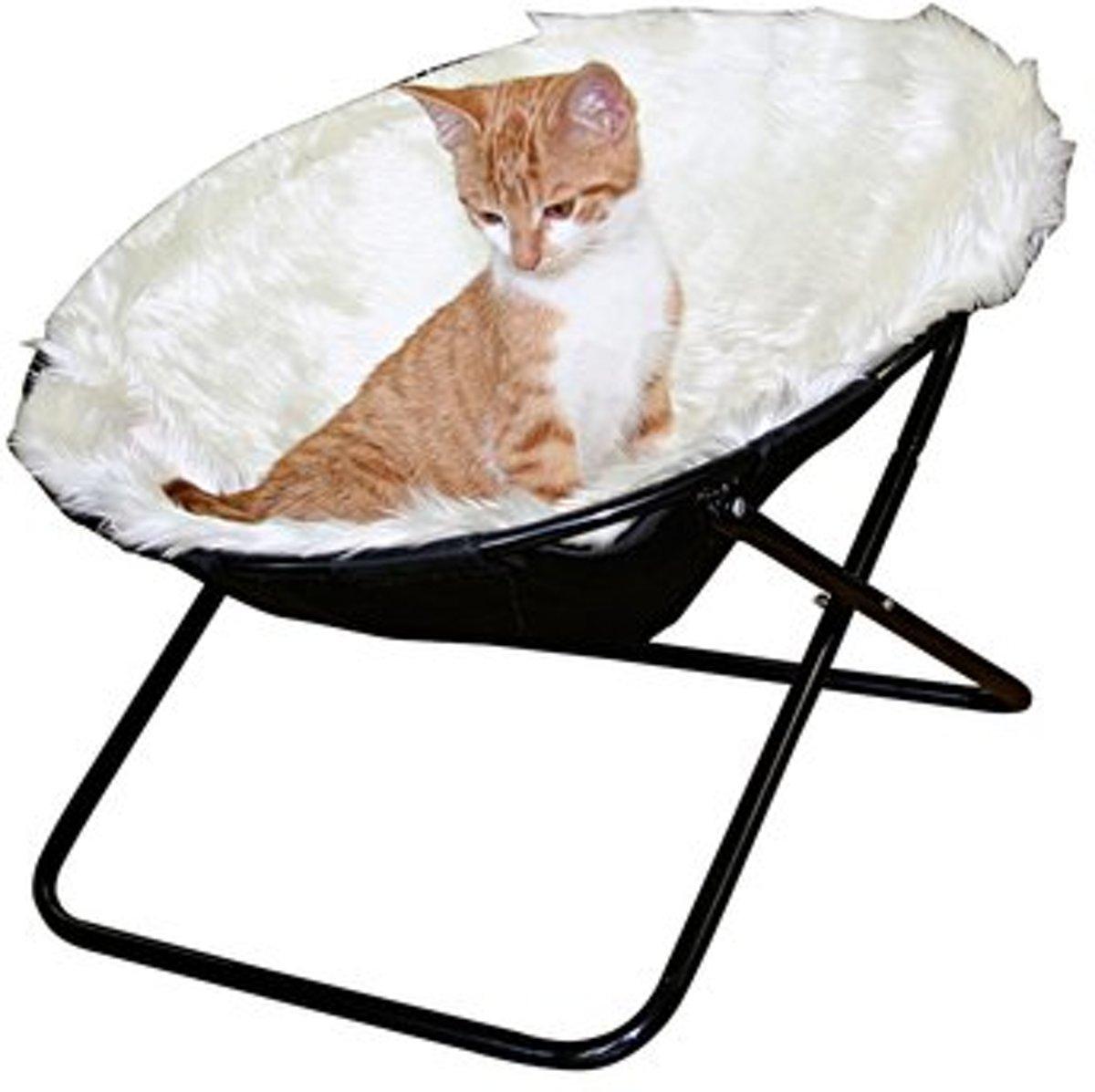 Kerbl Katten Slaap-klapstoel - Wit - Ø 50 cm