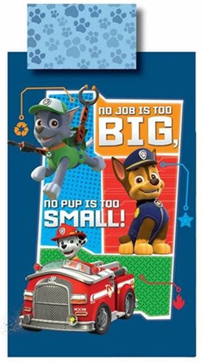 PAW Patrol No job is too Big - Dekbedovertrek - 140x200 - Multi kopen