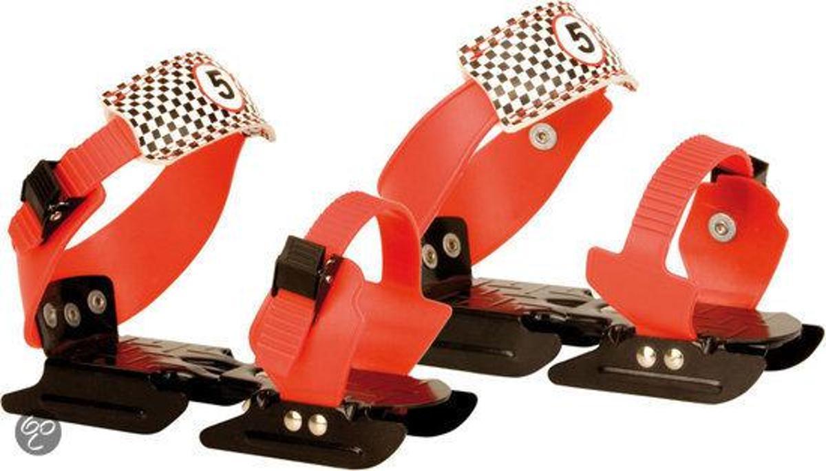 Nijdam Junior Glij-ijzers - Verstelbaar - Rood/Zwart