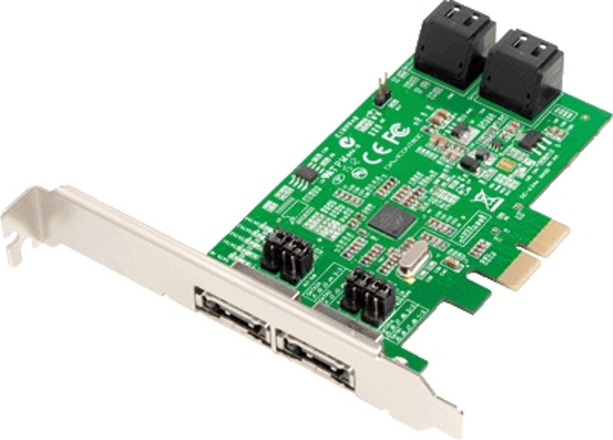 Dawicontrol PCI Card PCI-e DC-624e RAID R2 4-kanaals SATA 6G retail kopen
