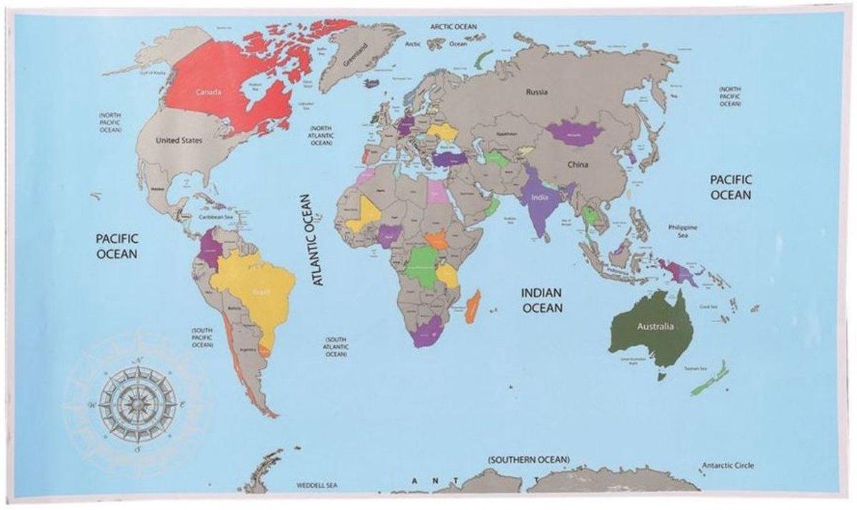 Out of the Blue Scratch World Map - Wereldkaart