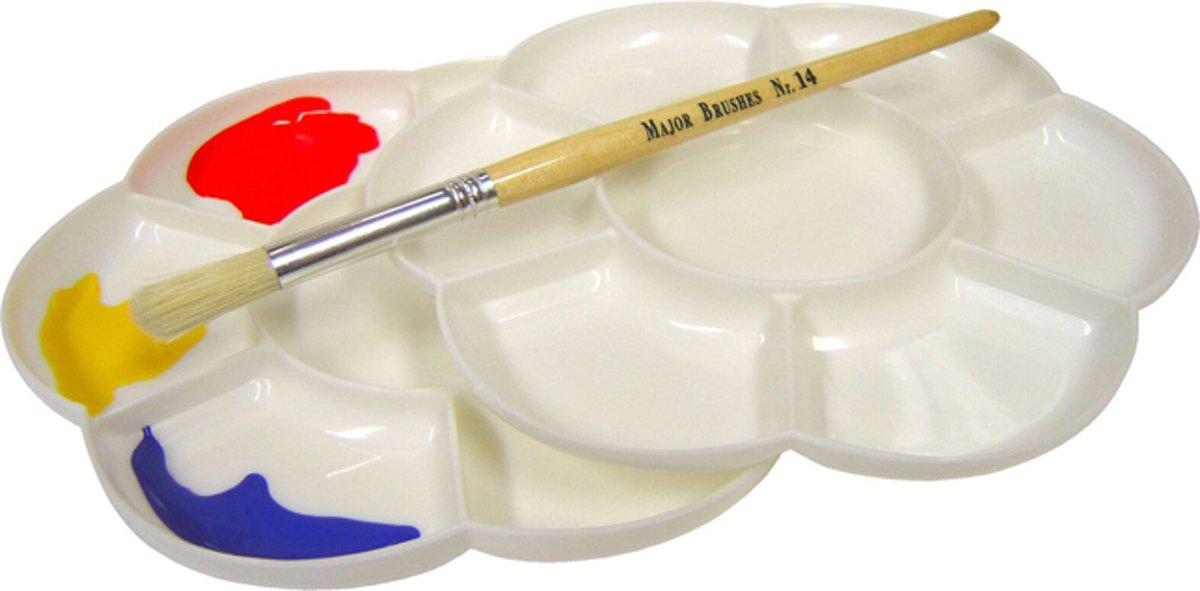 Verf Palet Bloem Dubbel 17 cm - 4 stuks kopen