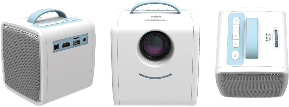 Sinji Mini Beamer Wit/Blauw - draagbare beamer - beamer projector kopen
