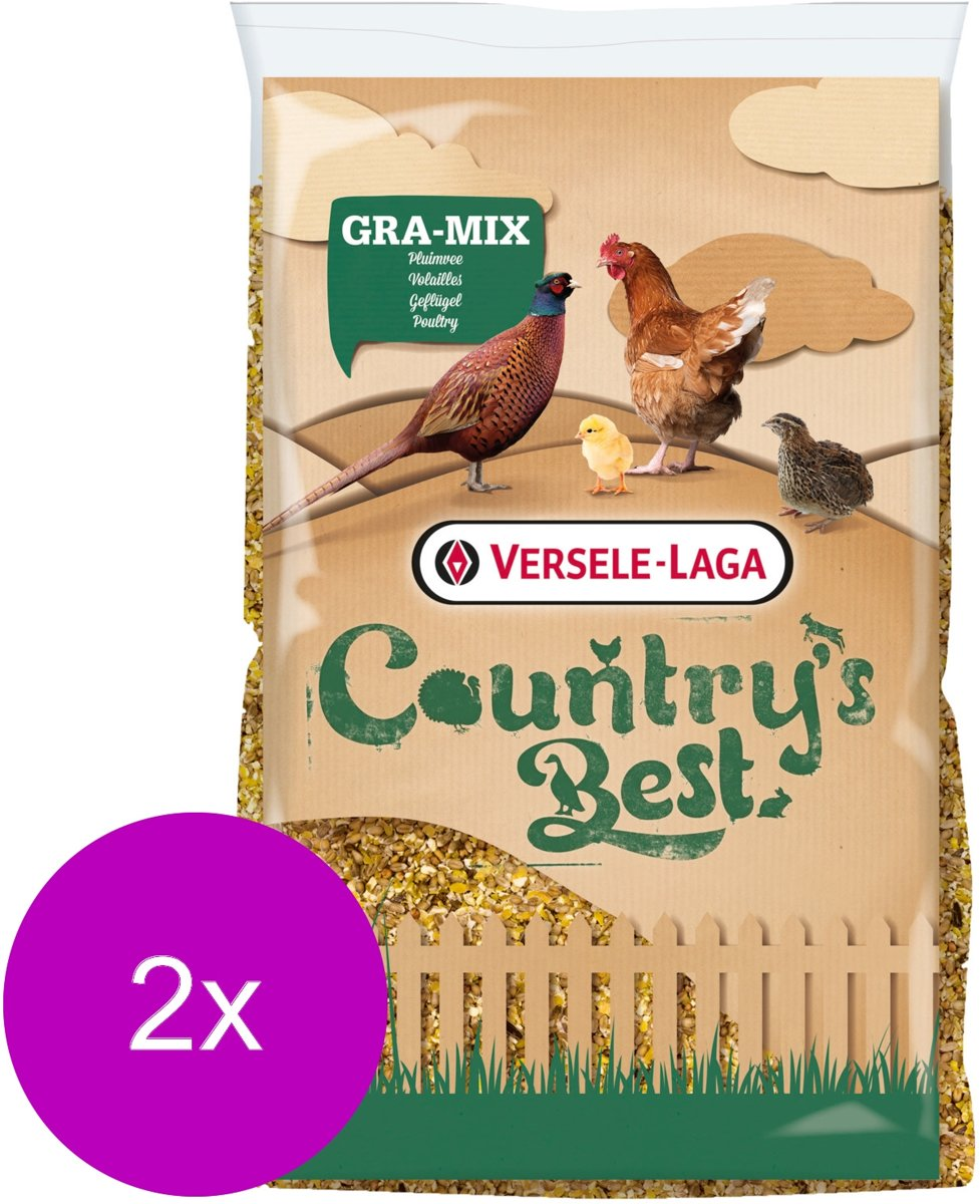 Versele-Laga Country`s Best Gra-Mix Ardeens Graan Gebroken Mais - Kippenvoer - 2 x 20 kg