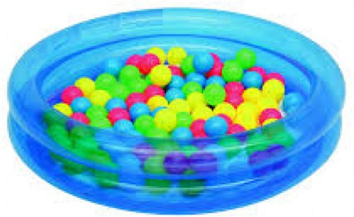 Bestway Zwembad met ballen blauw.