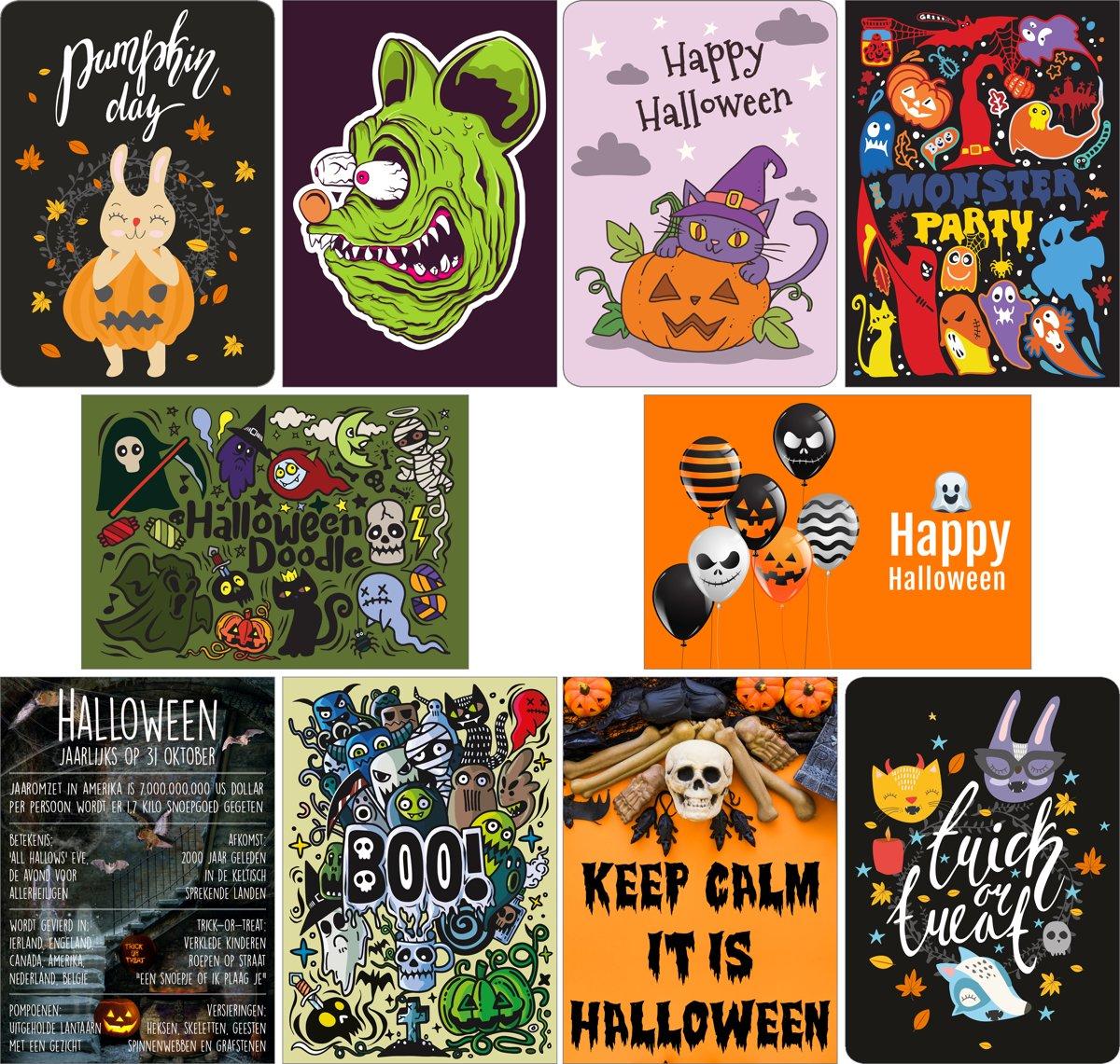 Halloween Afkomst.Ansichtkaarten Halloween Set Van 10