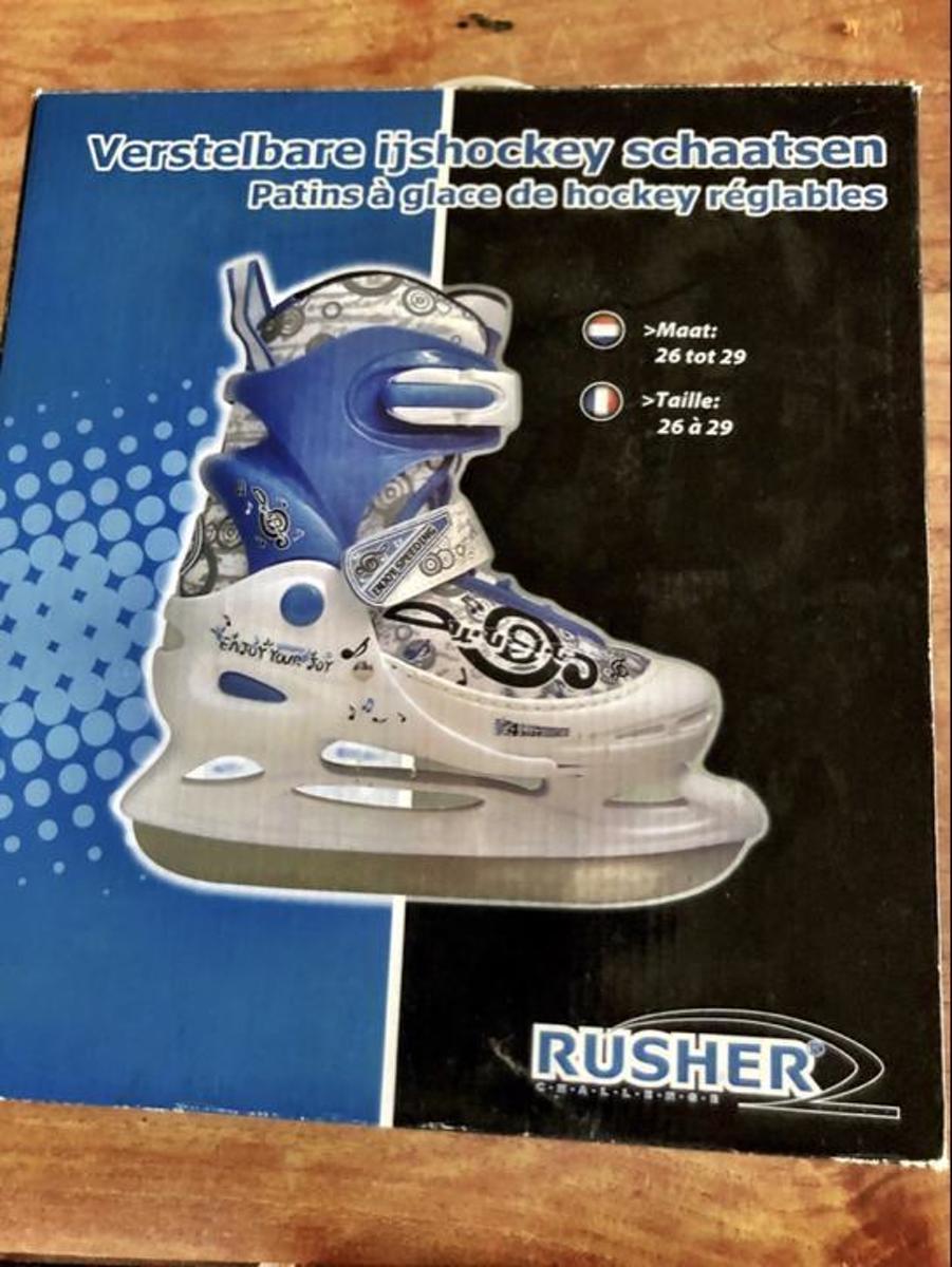 Rusher verstelbare Ijshockey schaatsen maat 26-29