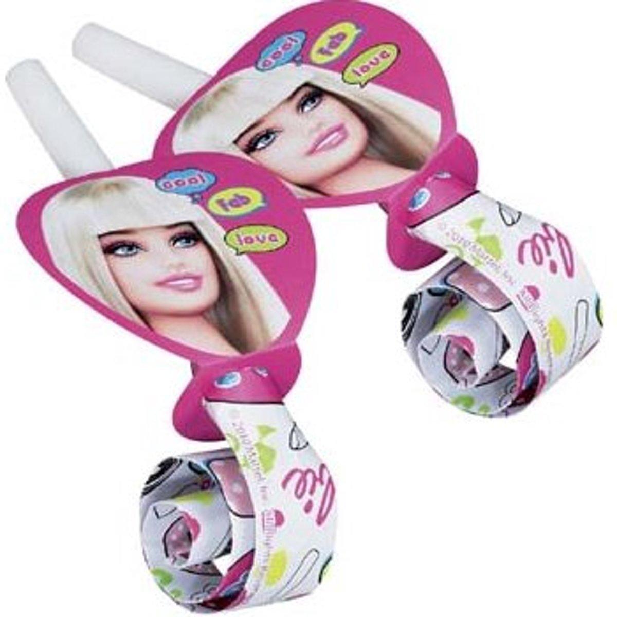 2x 6 roltongen - Barbie - uitblazers