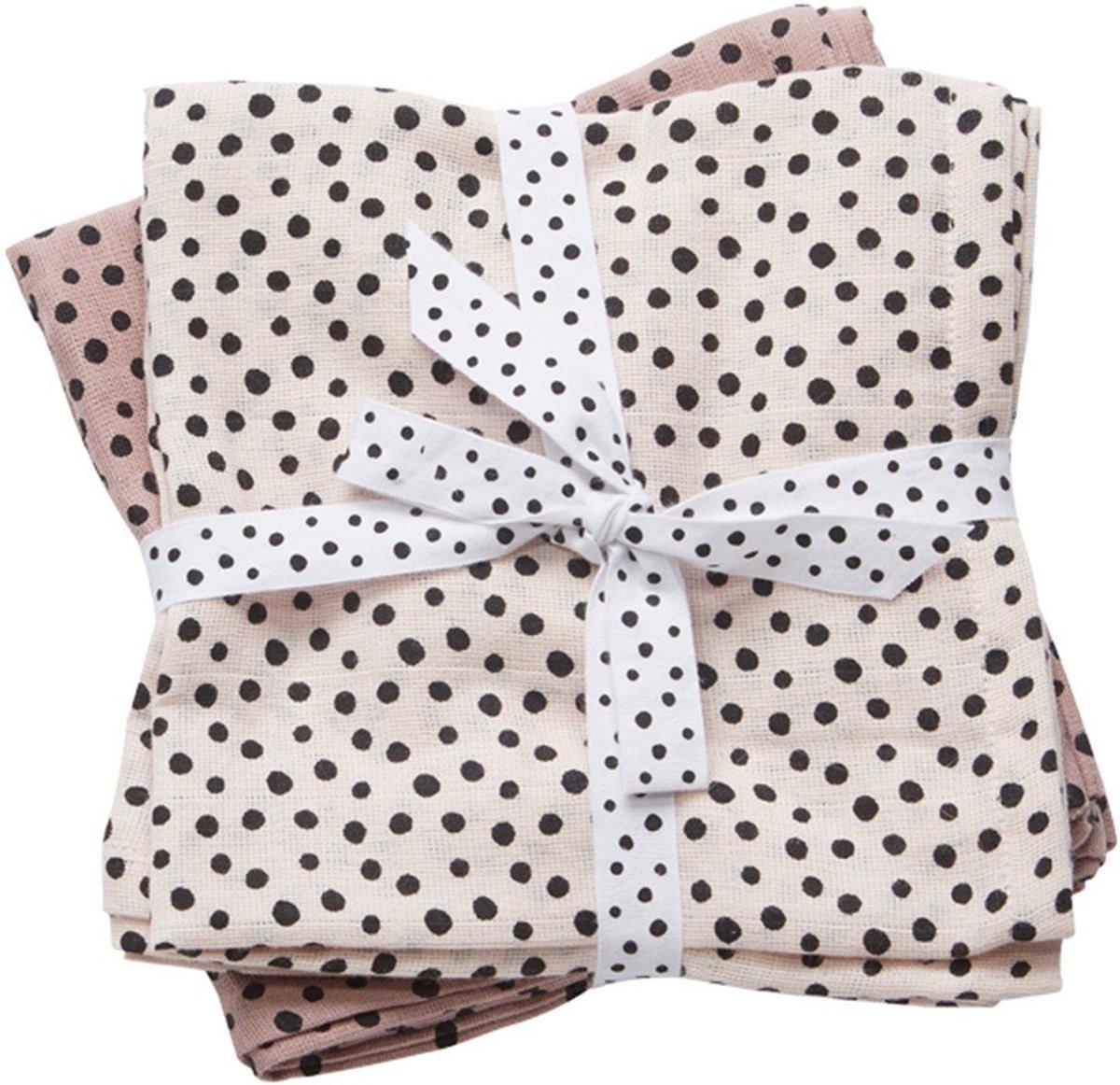 Hydrofiele Doeken XL Happy Dots Roze (2st) Done By Deer