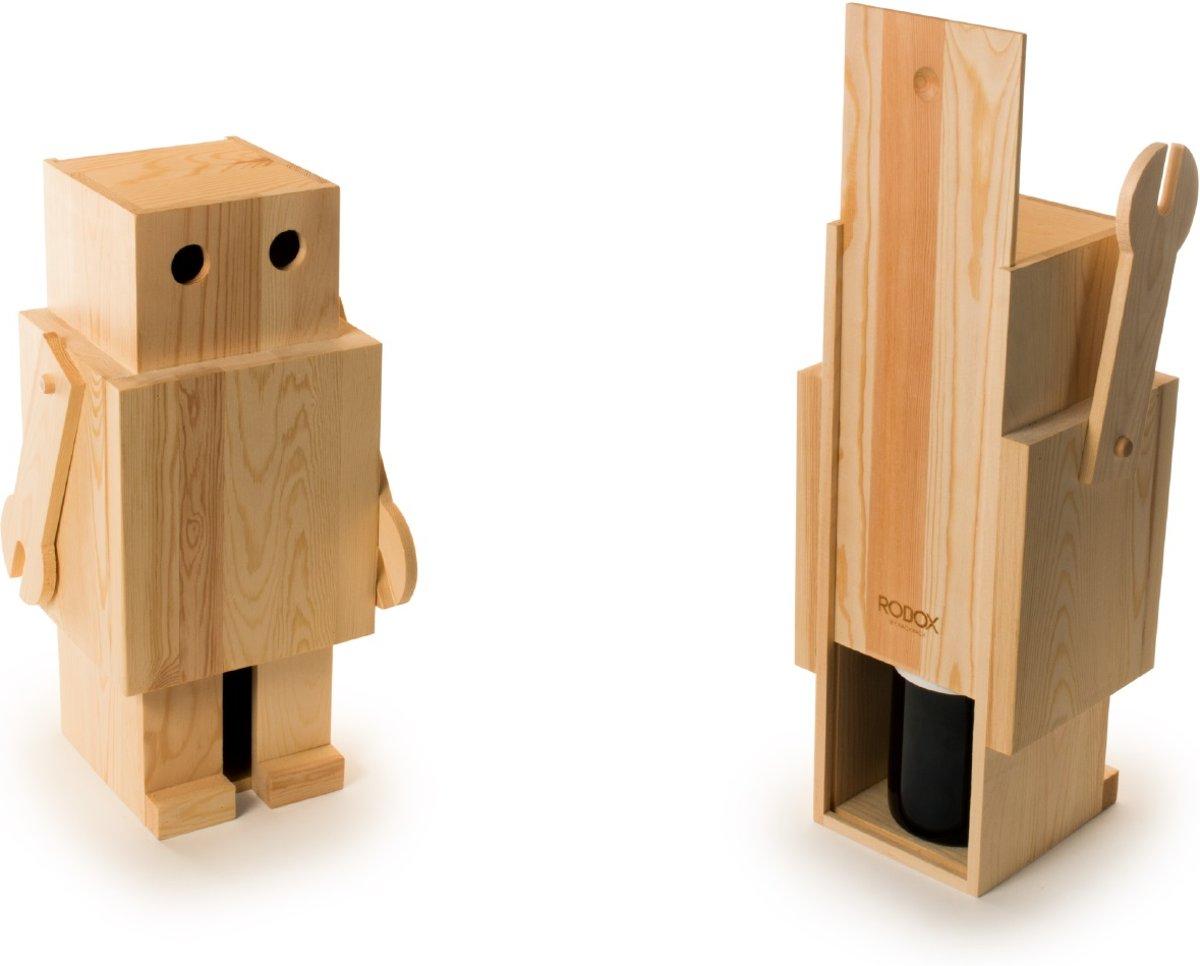 Rackpack Robox - Robot Wijnkistje - Geschenkdoos kopen