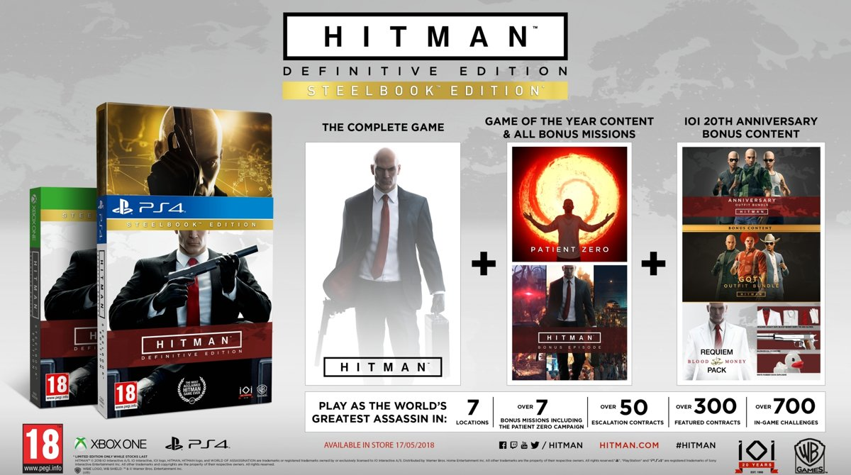 Hitman: Definitive Edition - Day One Steelbook Edition PlayStation 4