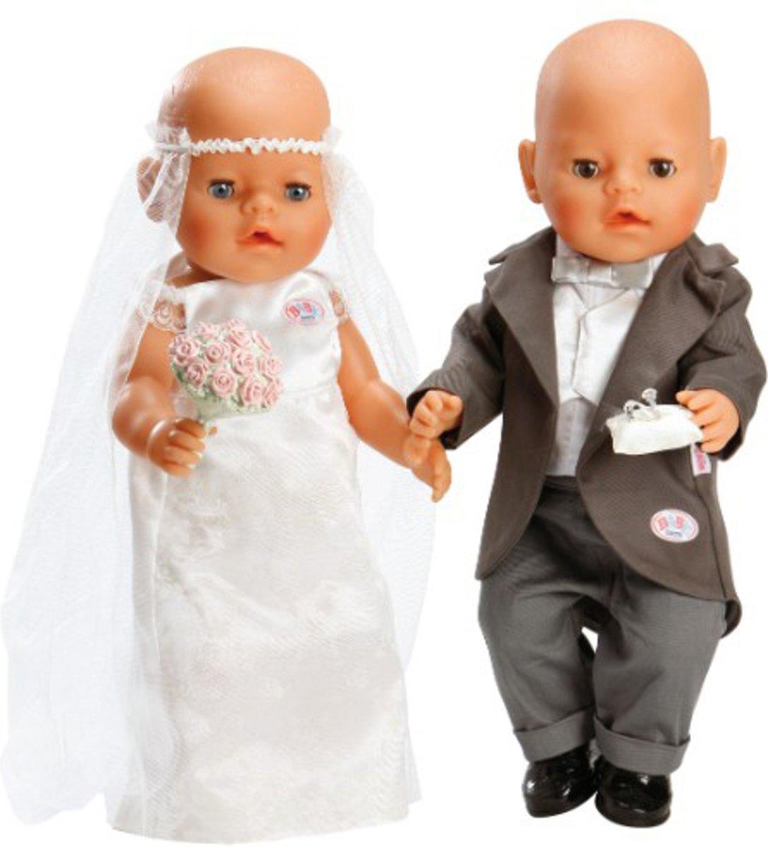 Bol Com Baby Born Bruiloft Kleding Poppenkleertjes