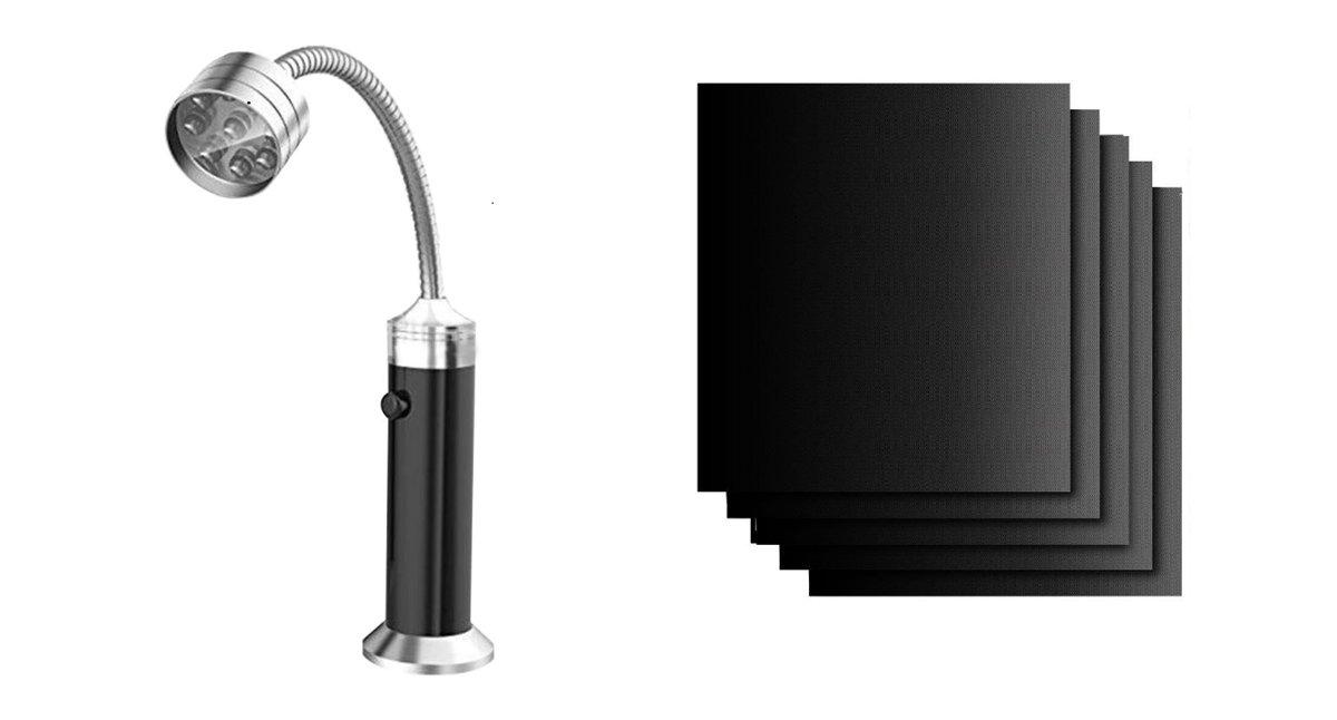 ProBBQ - BBQ matjes - 2 stuks - BBQ lamp - BBQ accesoires -  BBQ matje ovenbeschermer - BBQ lamp| Complete set om uw BBQ ervaring nog leuker te maken kopen