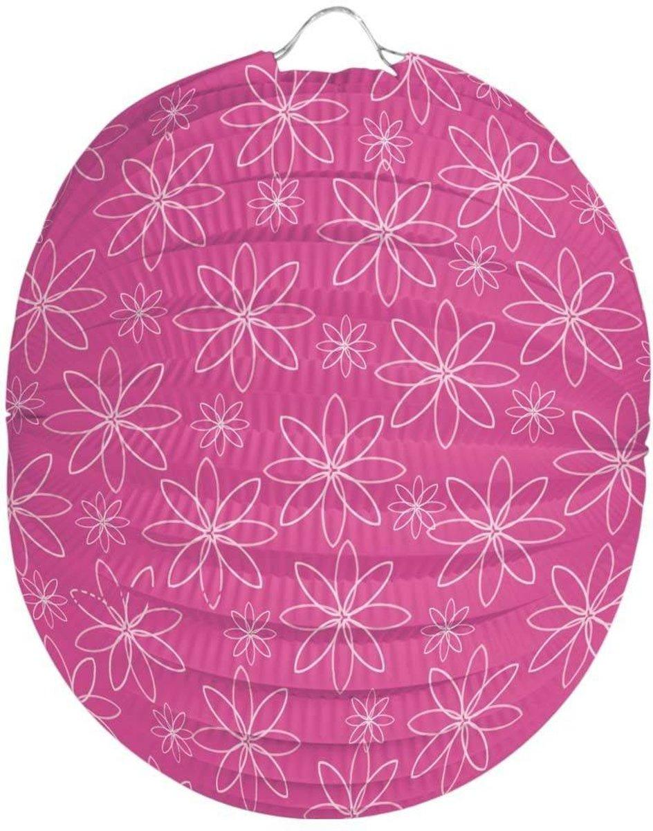 Bloemen Lampion Roze 22cm kopen