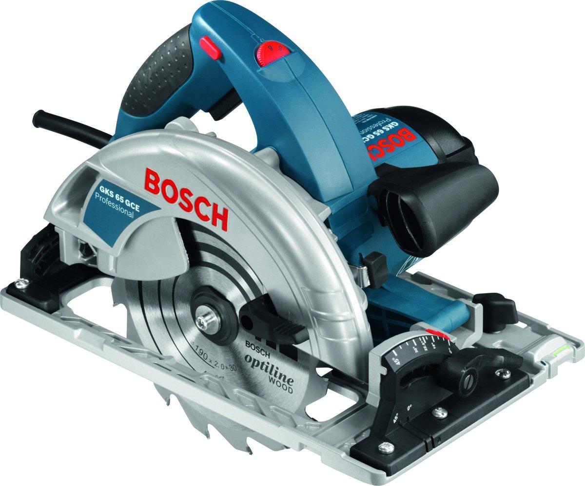 Bosch Professional GKS 65 GCE Cirkelzaag - 1800 Watt - 65 mm zaagdiepte - Inclusief zaagblad en L-BOXX